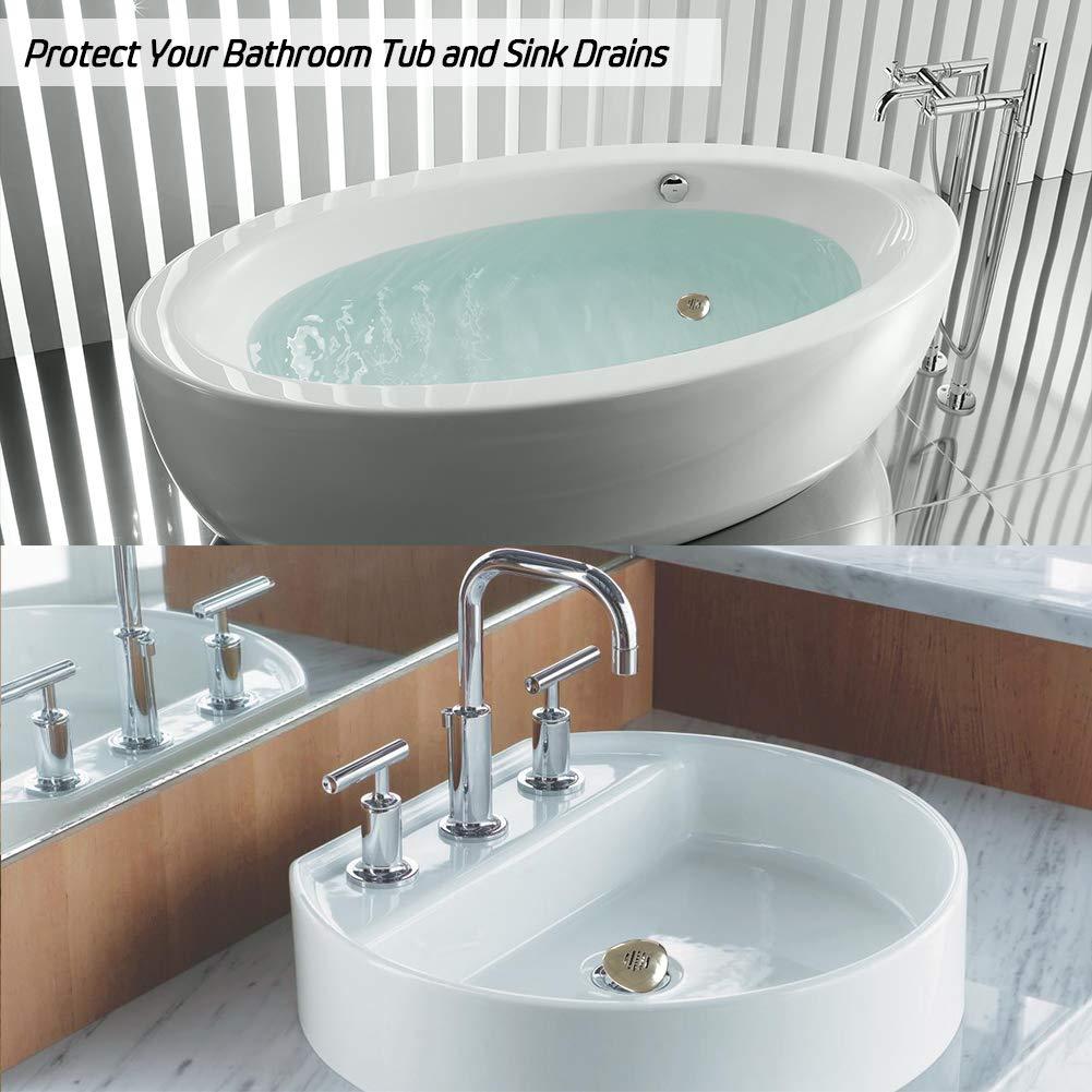 Amazon.com: Aofmee Bathtub Drain Protector Hair Catcher, Upgraded ...