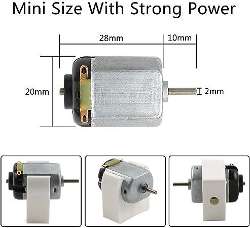Mini Electric Motor 1.5-3V 15000RPM with 6 Sntieecr 6 Set 131 PCS DC Motors Kit