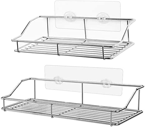 Metal Bathroom Shower Storage Shelf  Organizer Rack Supplies Caddy Baske New