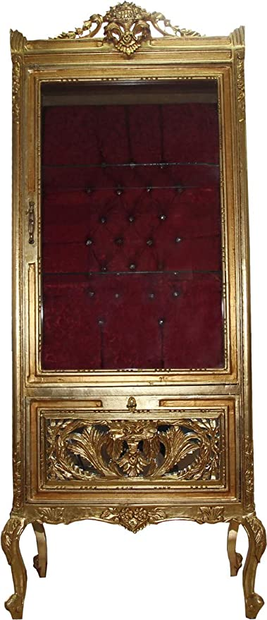 Casa Padrino Baroque Display Cabinet Gold Bordeaux Display Cabinet Living Room Cabinet Glass Cabinet Antique Look Amazon Co Uk Kitchen Home