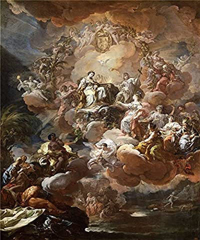Perfect Effect Canvas ,the Best Price Art Decorative Prints On Canvas Of Oil Painting 'Giaquinto Corrado Espana Rinde Homenaje A La Religion Y A La Fe 1759 ', 30 X 36 Inch / 76 X 91 Cm Is Best For Wall Art Decoration And Home Artwork And Gifts