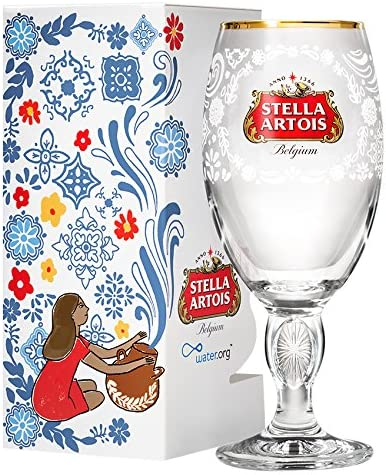 PARTY X 2 Stella ltd Edition Chalice Red Star with Gold Rim Glasses.COLLECTABLE