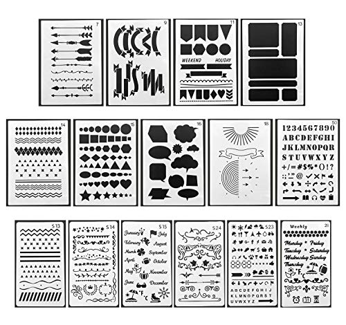 A5 Stencils-Plastic Planner Template for Notebook, Diary, Scrapbooks, Drawing, DIY Painting Craft