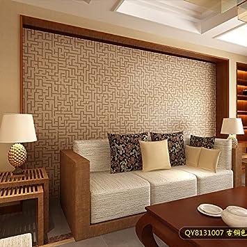 Tkopainsde Die Neue 3D Chinesischen Tapeten Schlafzimmer Wohnzimmer Wand  Braun Classic Bereich Studie Nachttisch,