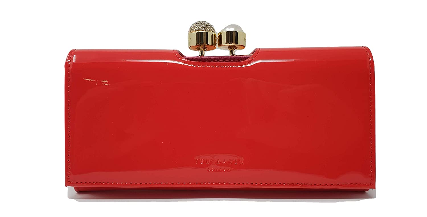 57e213a3fb97 Ted Baker Kattia Ladies Purse Wallet Crystal Pearl Bobble matinee in Bright  Red  Amazon.co.uk  Luggage