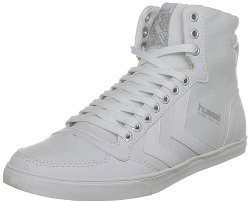 5ab6d16a15a8 Hummel Men s Slimmer Stadil High Canvas Trainer white 631119001 ...