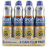 Member's Mark Sport SPF 50 Continuous Spray Sunscreen (10 fl. oz., 4 pk.) Review