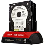 """Goldfox® 2.5"""" 3.5"""" SATA/IDE Festplattengehäuse Hard Drive Docking Station USB HDD Card Reader Dock HUB USB 2.0 Doppel Port hohe Qualität Kartenleser SATA Adapter"""
