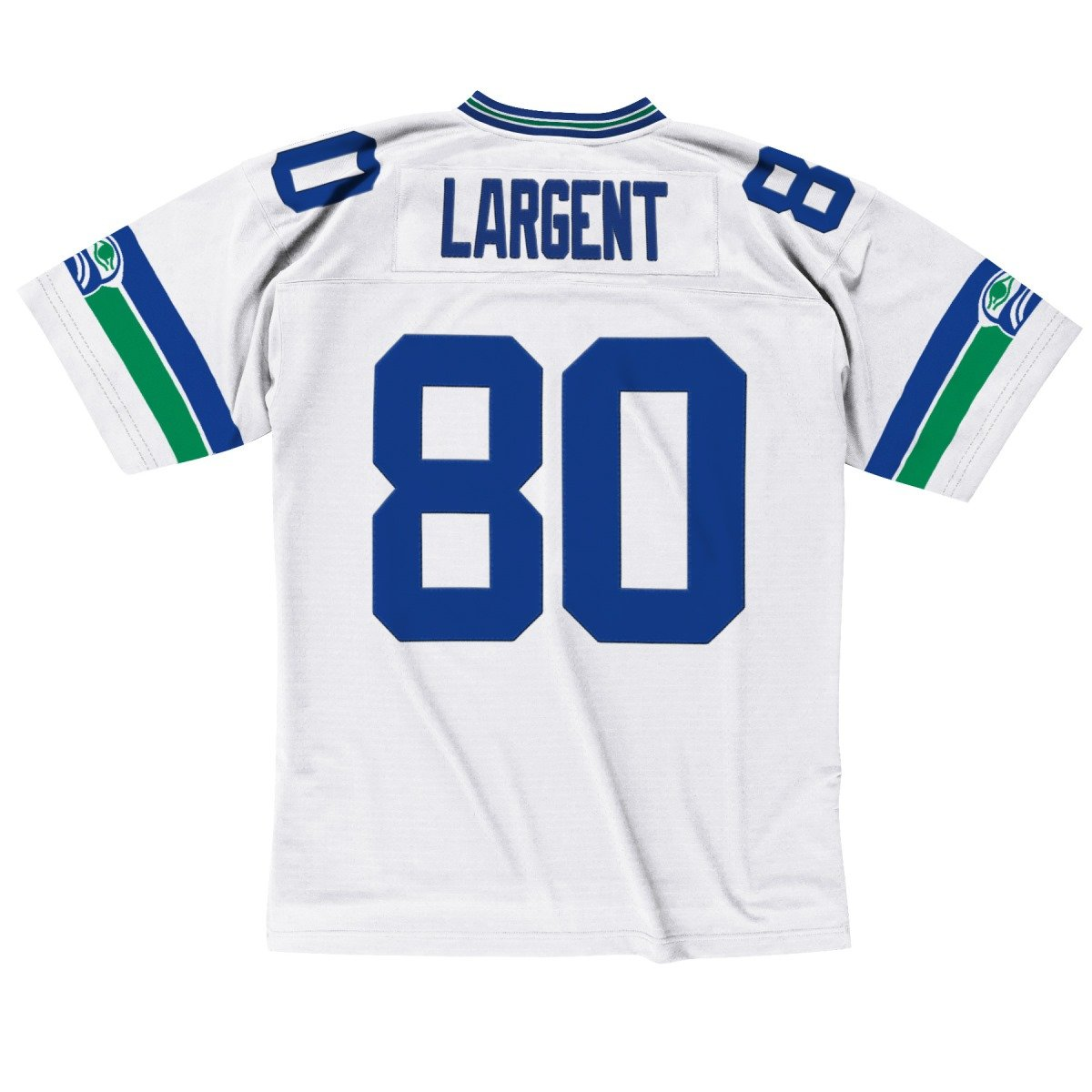 White Steve Largent Seattle Seahawks Mitchell /& Ness Throwback Premier Jersey Maglia