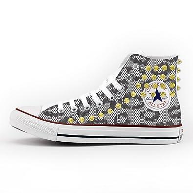Converse All Star Personnalisé et imprimés - chaussures à la main - amour de coeur XA9Doe3sS