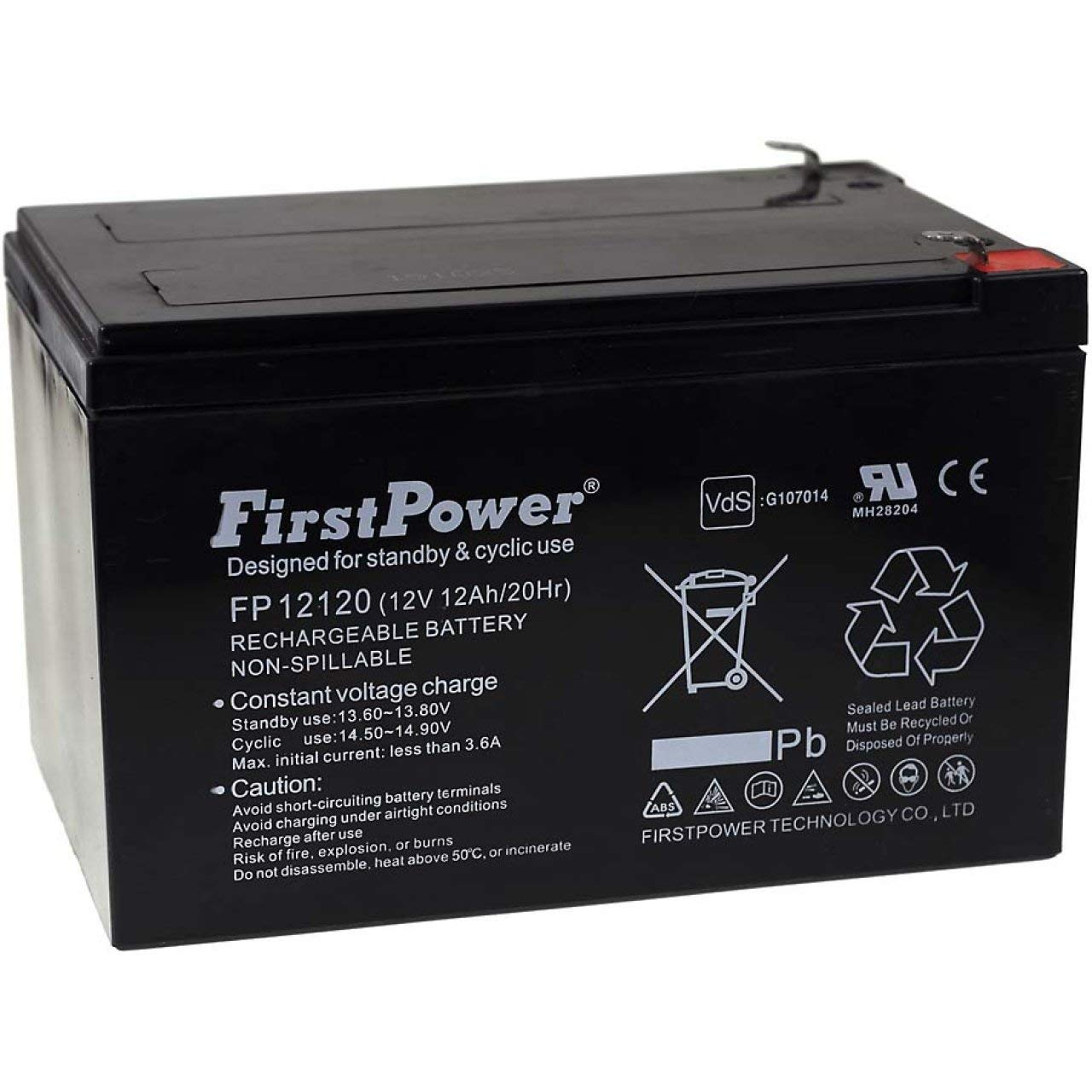 Lead-Acid FirstPower Blei-Gel Akku f/ür APC Smart-UPS SUA1000I 12Ah 12V VDs 12V