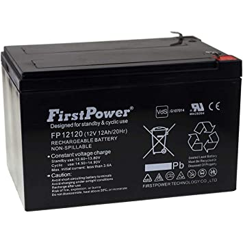 FirstPower Batería de Gel FP12120 12Ah 12V VDS