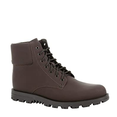 25eb14101 Amazon.com: Gucci Lace-up Rubberized Brown Leather Ankle Boot with Web  Detail 353425 2152 (11.5 G / 12 US): Shoes