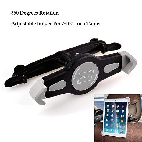 BESTEK Soporte Tablet Coche Universal para Reposacabezas de Coche Soporte de Asiente Trasero para Tablet de