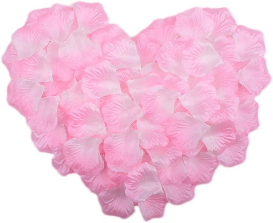 Freedi 500pcs Silk Rose Petals Fake Flower Wedding Party Bridal Shower Home Garden Decor