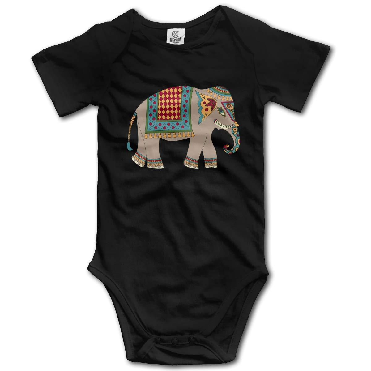 Elephant Clipart Thailand Unisex Solid Baby 100/% Organic Cotton Romper Bodysuit Tops 0-2T