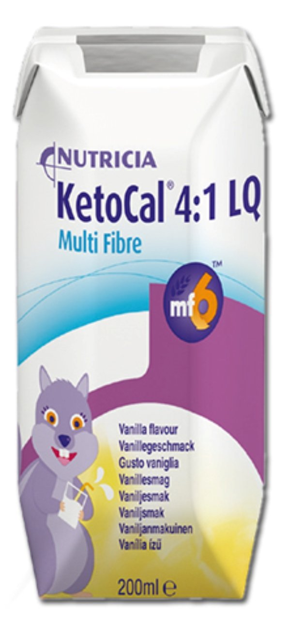 KetoCal 4:1 Oral Supplement/Tube Feeding Vanilla 237 mL Tetra Paks - Case of 27