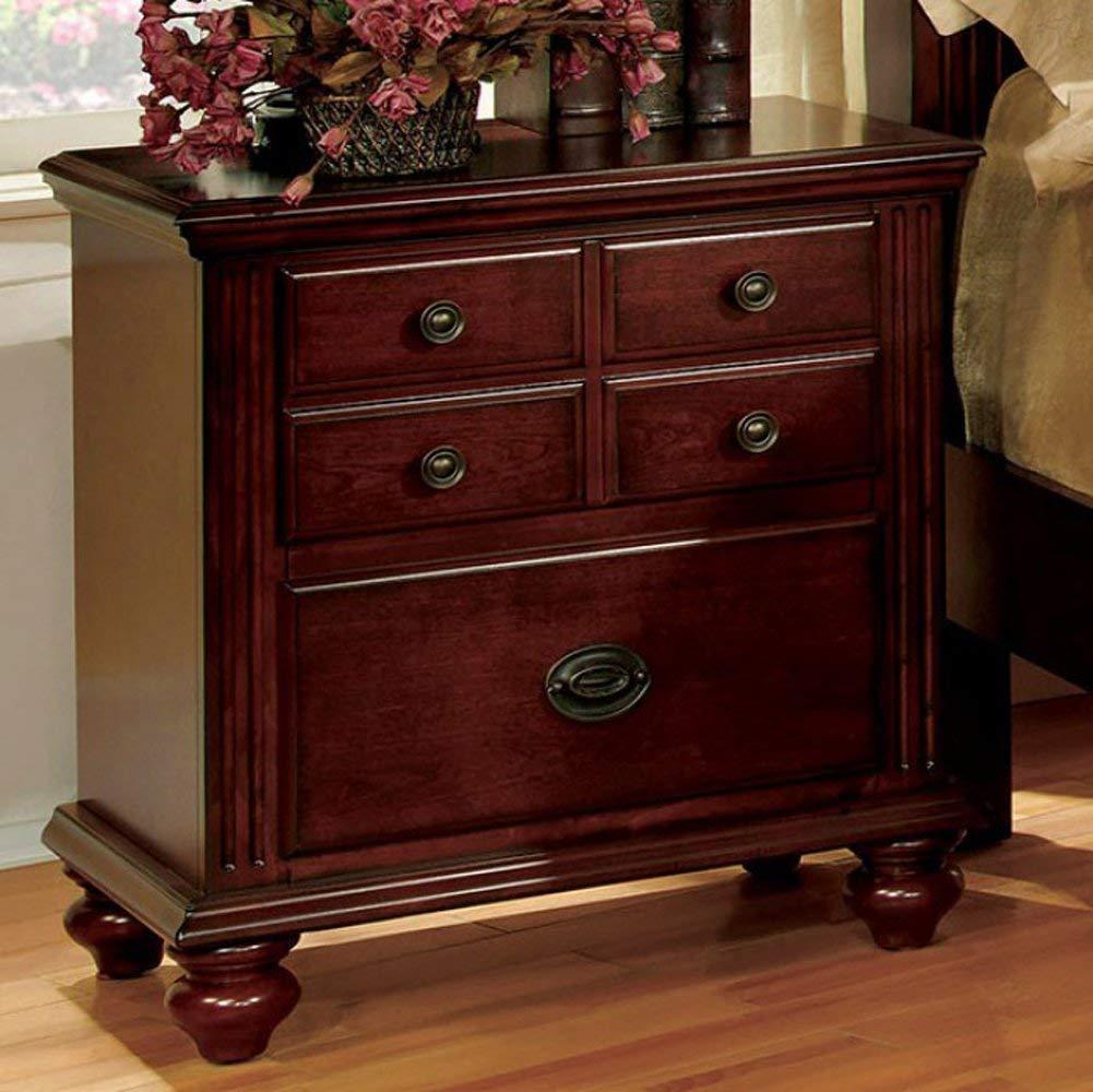 Furniture of America CM7083N Gabrielle Ii Cherry Nightstands