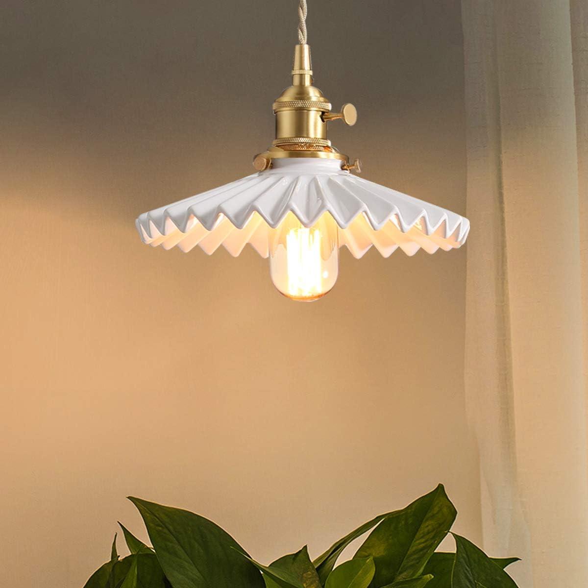 VISDANFO Copper Pendant Light Fixture for Living Room Dining Room Bedroom Kitchen.