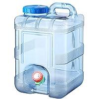Bidón De Agua con Grifo De Drenaje Fijo, Recipiente para Agua De Coche Dispensador De Agua De Plástico Ideal para…