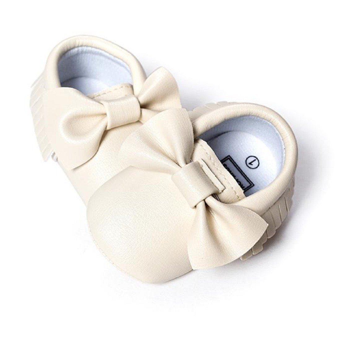 Sunfei Baby Infant Boys Girls Tassels Bowknot Crib Shoes