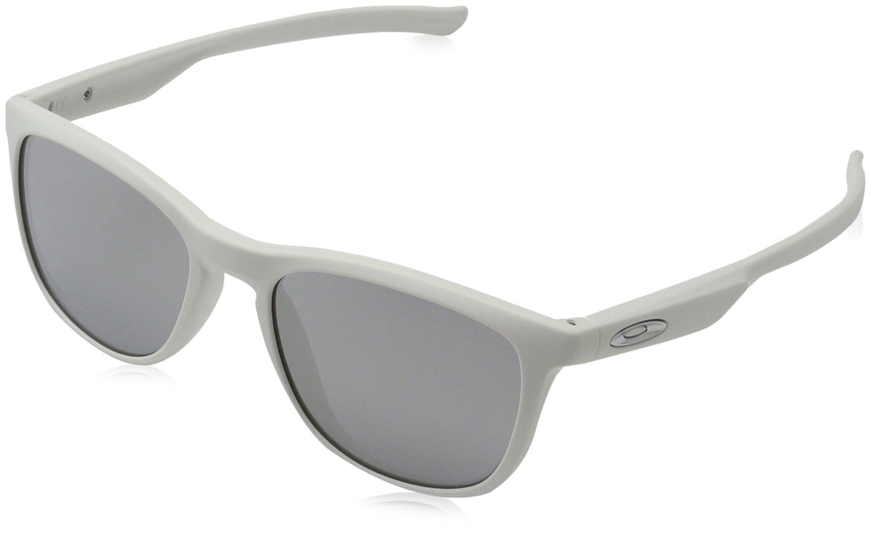 Oakley Men's Trillbe X Non-Polarized Iridium Rectangular Sunglasses, Matte White, 52 mm