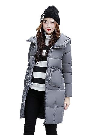 gallery of smile ykk veste chaude femme manteau avec capuche parka manche  longue automne hiver mode gris cm with parka chaude femme cc353faefe6