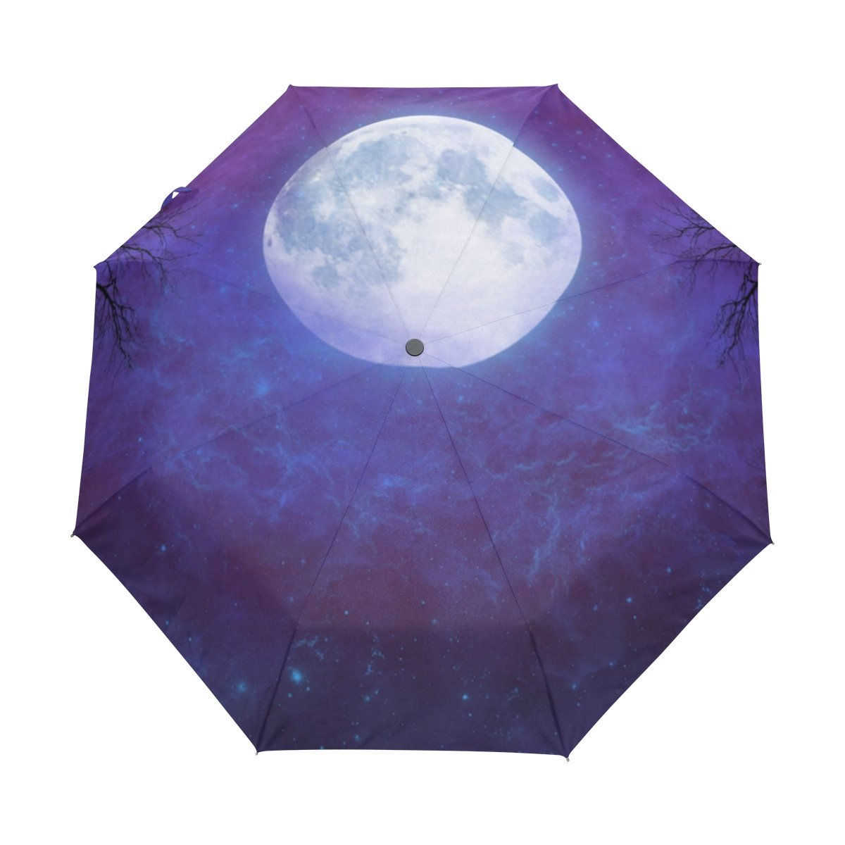 128ca022f7 durable modeling DOENR Compact Travel Umbrella Lighting Moon Sun and Rain  Auto Open Close Umbrellas Lightweight