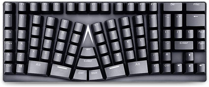 Ranuw Teclado ergonómico mecánico Gaming USB Type-C 86 Teclas ...