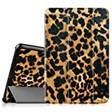 Fintie Samsung Galaxy Tab 4 7.0 Case - Ultra Slim Lightweight Smart Shell Standing Cover for Samsung Tab 4 7.0(7-Inch) Tablet (WILL NOT Fit Samsung Galaxy Tab 3 7.0), Leopard Brown