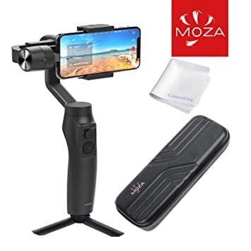 Moza Mini-Mi 3-Axis Smartphone Gimbal Stabilizer with Wireless Charging &  Hard-shell shock-resistant Case (Iphone 6/7/8/X/XR & Samsung S8/9/10) (Max