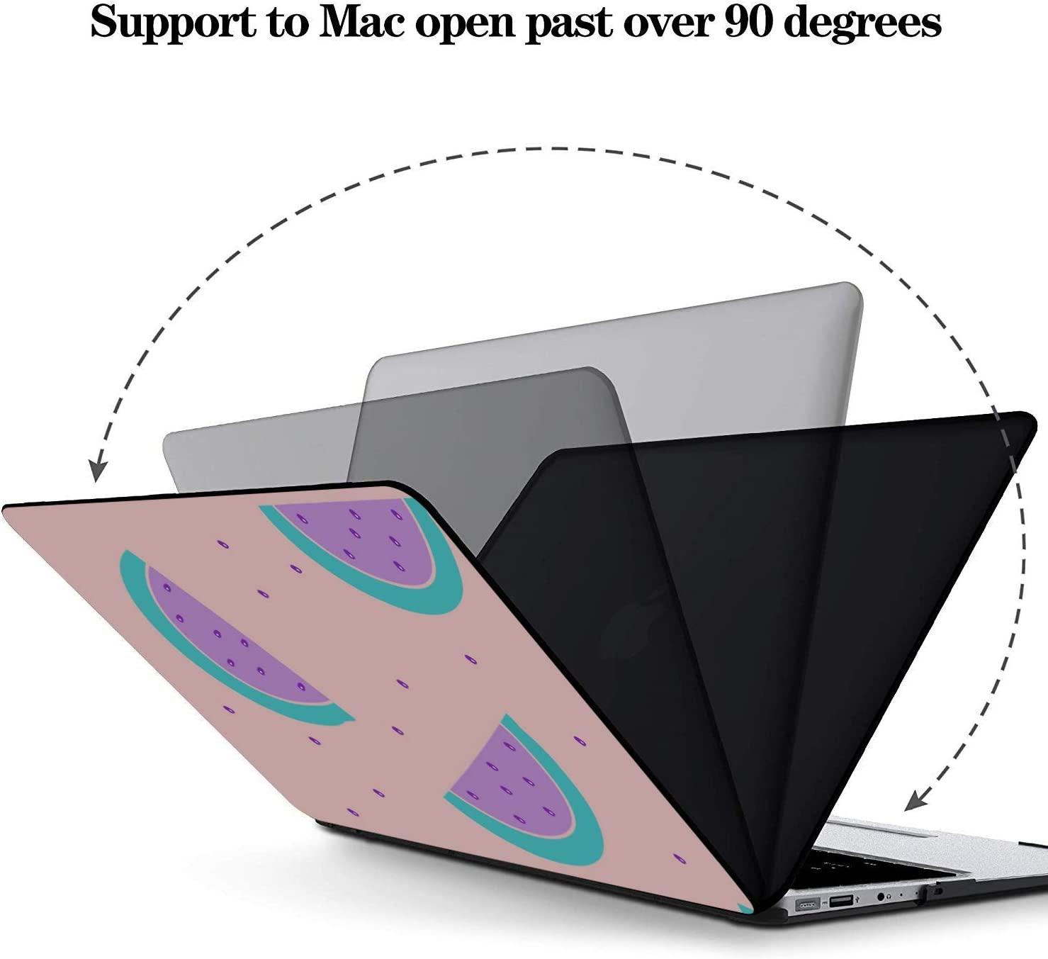 MacBook Pro 2018 Accessories Summer Fashion Cute Fruit Watermelon Plastic Hard Shell Compatible Mac Air 11 Pro 13 15 Laptop Shell Protection for MacBook 2016-2019 Version