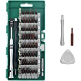 HSicily Precision Screwdriver Set, 63 in 1 Magnetic Driver Kit with 57 Bits, Professional Electronics Repair Tool Kit for Phone, Tablet, iPad, Macbook, Xbox, Computers, Eyeglasses and Other Devices