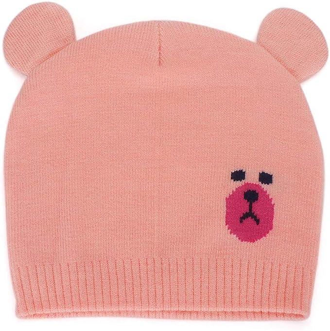 MK MATT KEELY Cute Bear Pattern Unisex Baby Winter Hats Newborn Toddler Beanie with Ears Warm Caps for Autumn Winter 0-12 Months Baby Girl Boy