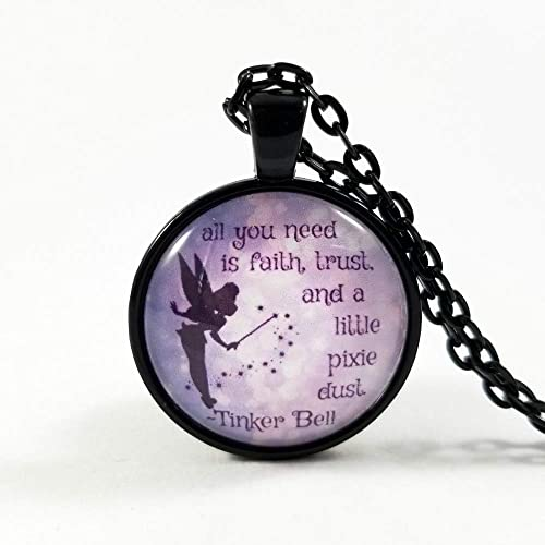Amazoncom Tinker Bell Quote Peter Pan Quote Quote Necklace