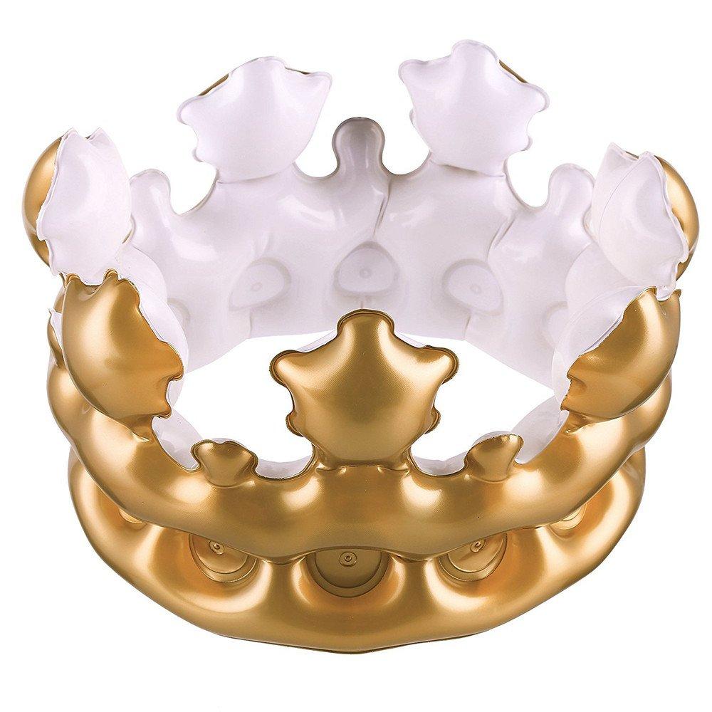 Golden King Crowns - Gorro de cumpleaños hinchable con ...