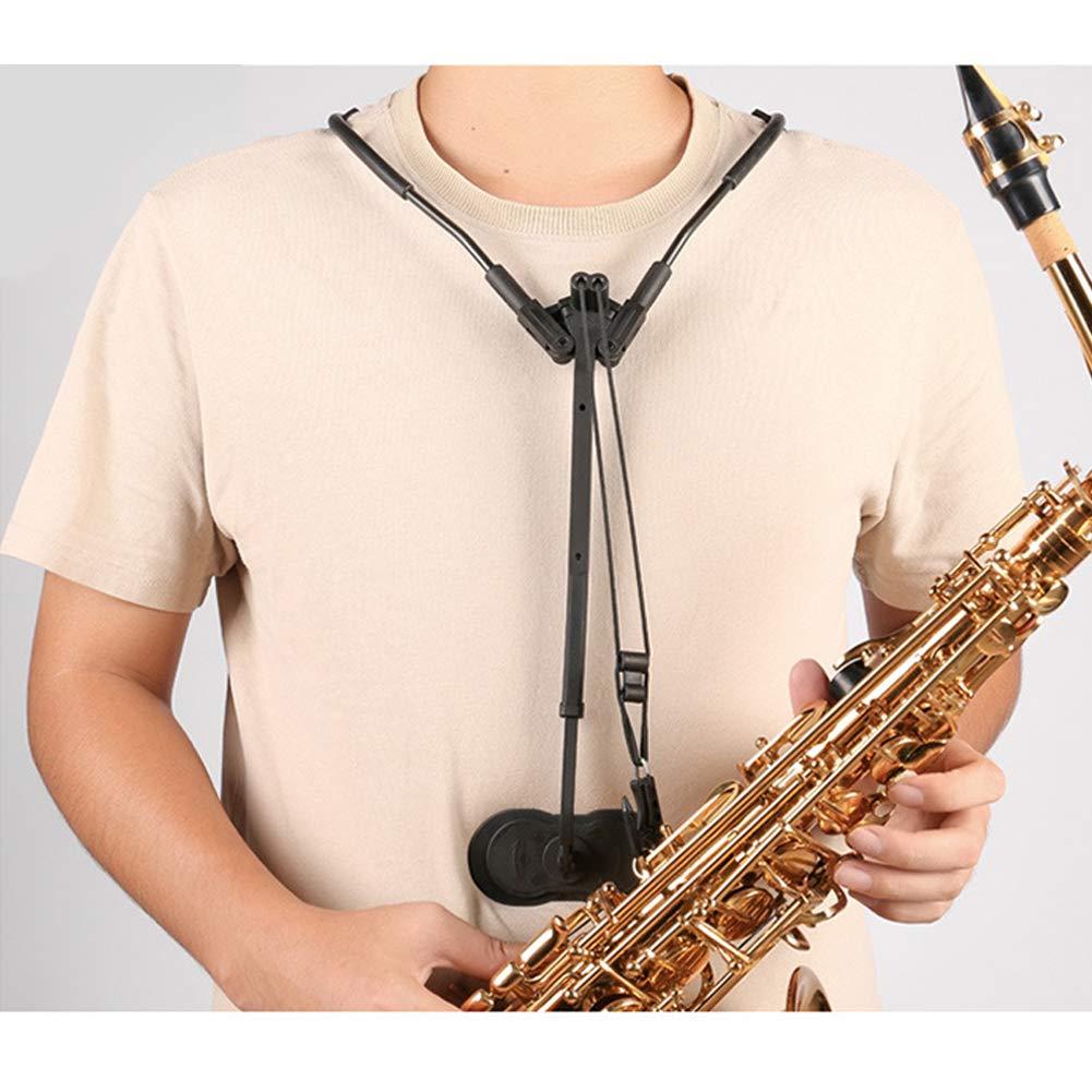 D&F Correa Saxo Alto Sax saxofon,Correa de Hombro Ajustable con ...