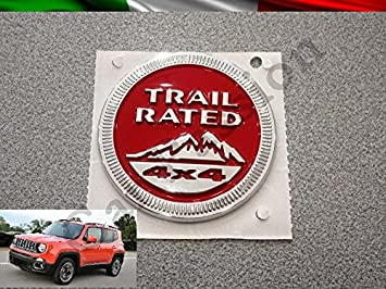 Texto Escudo Logo Jeep Renegade Trail Rated lateral original Side Emblem: Amazon.es: Coche y moto
