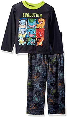 Black Boys Pokemon /& Friends 2 Piece Pajama Set Pants /& Long Sleeve Size 4
