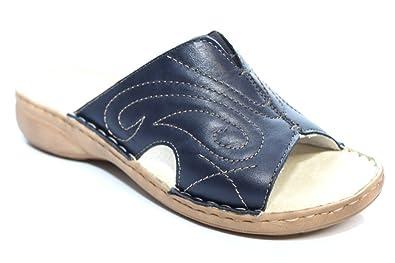 competitive price eb074 db36e Marco Tozzi Leder Pantolette blau Gr. 39
