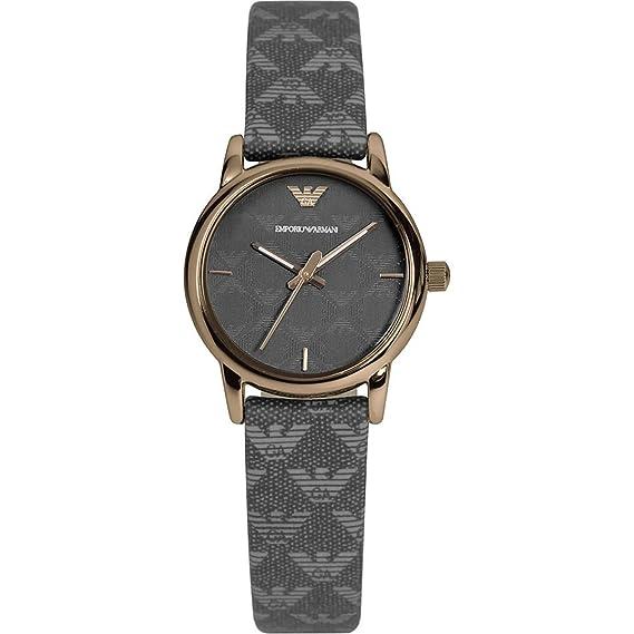 Emporio Armani - Reloj de cuarzo para mujer, correa de tela: Amazon.es: Relojes