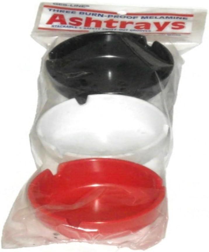 Three Burn-proof Melamine Ashtrays