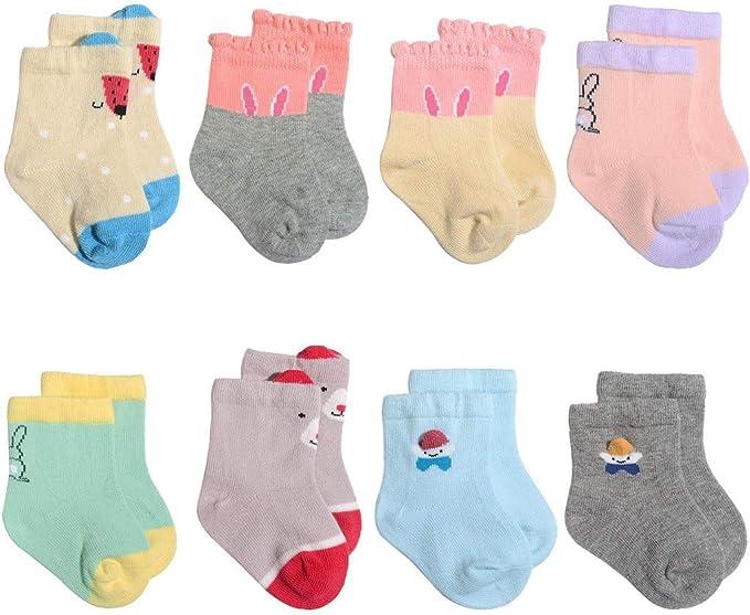 MAYOGO Calcetines Niña Bebe Dibujos Animados Calcetines Algodón ...