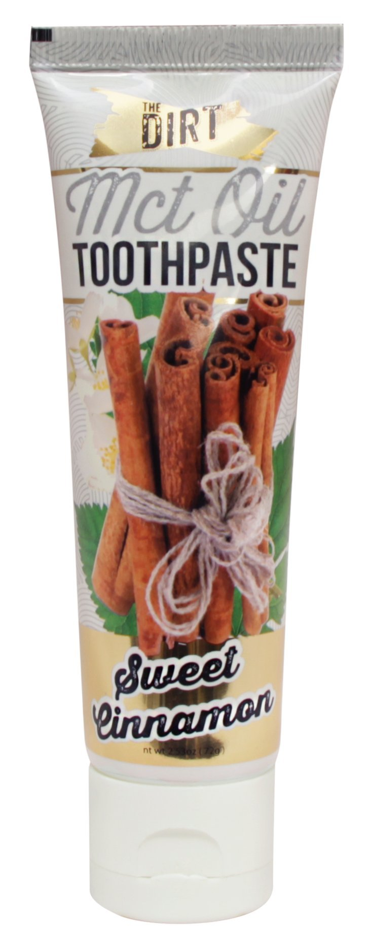 The Dirt Natural Organic Fluoride Free Toothpaste with MCT Coconut Oil (72g) Sweet Cinnamon