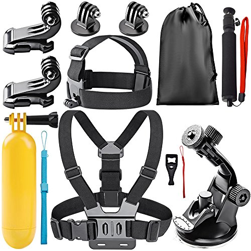 Action Camera Accessory Kit, Globmall 12-in-1 Universal Outdoor Sports Accessories Bundle Set