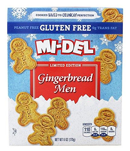 Mi-Del Gingerbread Men Limited Edition Cookies Gluten Free, Peanut Free
