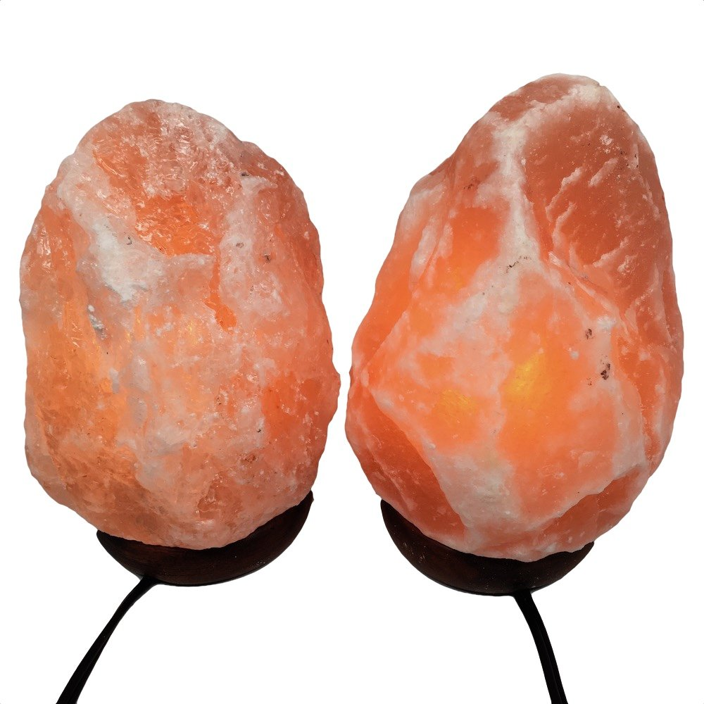 2x Himalaya Natural Handcraft Rough Raw Crystal Salt Lamp 7.75''-7.75''Tall, X0118, Exact Item will be Delivered