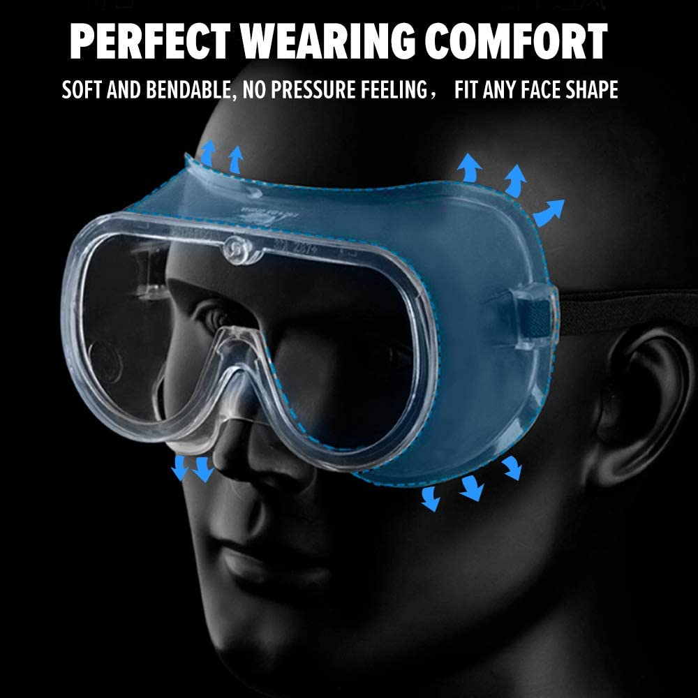 Safety Goggles Protective Eyewear for Home,Workplace,Lab Anti Fog Safety Glasses Eye Protection with Anti-Splash,Anti Scretch,UV Protection