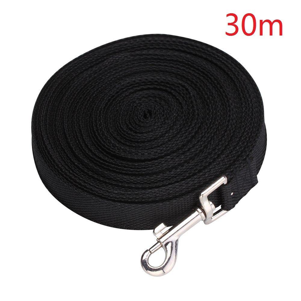 Black EMeskymall 30m 100ft Dog Puppy Pet Training Obedience Lead Leash Rope (Black)