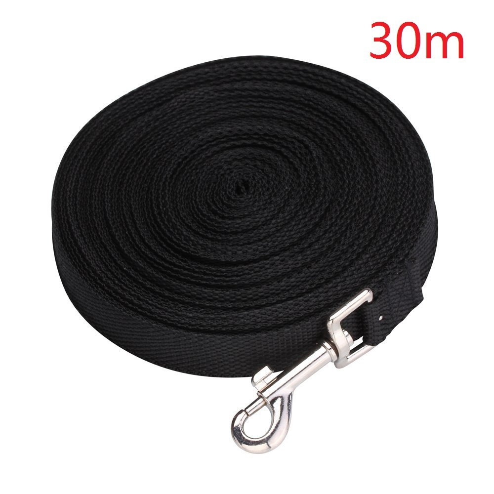 EMeskymall 30m/100ft Dog Puppy Pet Training Obedience Lead Leash Rope (Black)